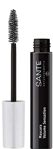SANTE Naturkosmetik Mascara Volume Sensation No. 01 black, Sensationelles Wimpernvolumen, Natural Make-Up, Mit Bio-Mandelöl, 12ml