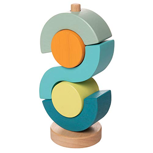 Manhattan Toy Boom Shock-A-Locka Wooden Stacking Toy for Toddlers