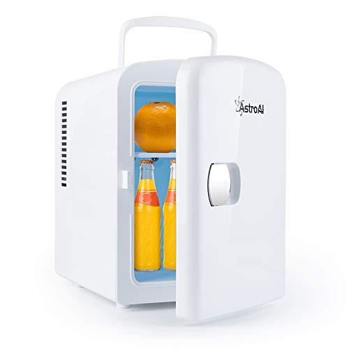 AstroAI 冷蔵庫 小型 冷温庫 ミニ冷蔵庫 4L 化粧品 小型でポータブル 家庭 車載両用 保温 保冷 2電源式 便利な携帯式 コンパクト 小型冷蔵庫 日本語説明書 3年保証付き (01ホワイト)