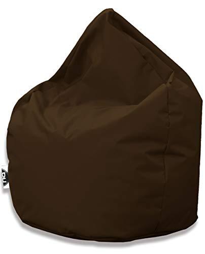 Patchhome Sitzsack Tropfenform - Braun für In & Outdoor XL 300 Liter - mit Styropor Füllung in 25 versch. Farben und 3 Größen