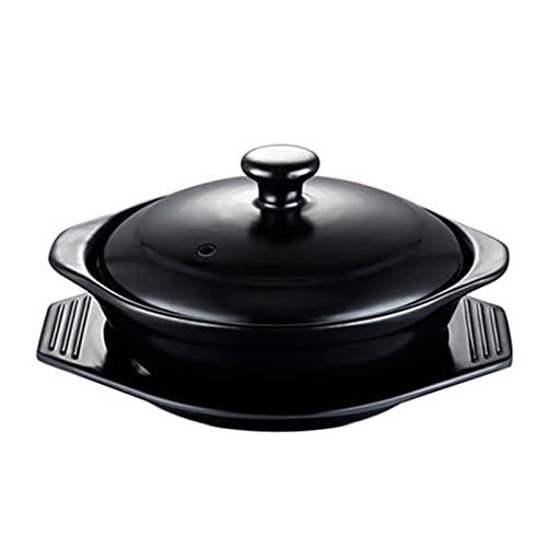 LLSS Olla para cocinar - Cazuela increíble con Tapas, vitrocerámica para Horno, Olla para estofado de Terracota Natural, Utensilios de Cocina, Cuenco de Piedra de espodumena d