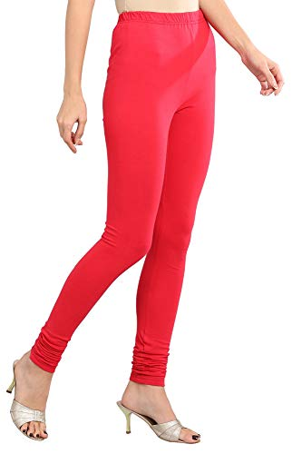 Aurelia Women's Cotton Chudidar Bottom (19FEA60024-600204_Red_Small)