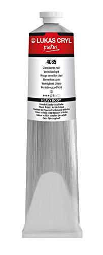 LUKAS CRYL pastos 200 ml - Acrylfarbe in Profi-Qualität - Farbton Zinnoberrot hell