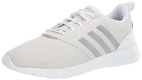 adidas Women's QT Racer 2.0 Running Shoe, White/Silver Metallic/Orbit Grey, 6.5