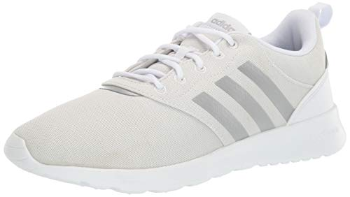adidas Women's QT Racer 2.0 Running Shoe, White/Silver Metallic/Orbit Grey, 8