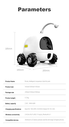 ECO-T Robot Pet Inteligente 2021 para Perros y Gatos, cámara WiFi Full HD 1080P, Control de teléfono móvil a través de la aplicación (Solo WiFi 2.4G)