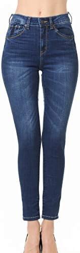 Wax Jean Denim Women s Juniors Push Up High Rise Skinny Jean in Fine Cotton Denim product image