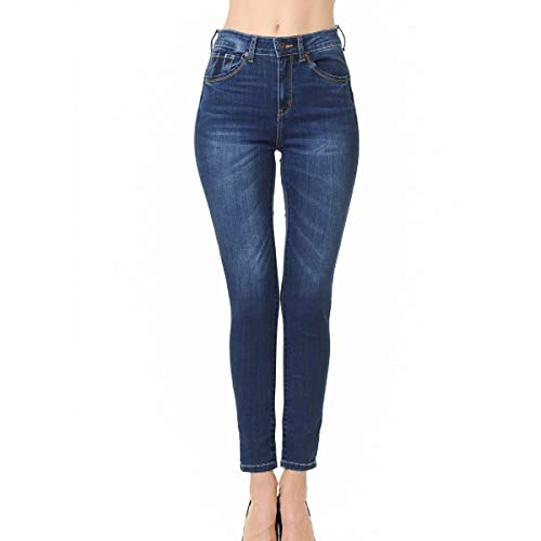 Wax Jean Denim Women's Juniors Push-Up High-Rise Skinny Jean in Fine Cotton Denim