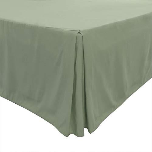 PiccoCasa Faltenrock, klassisch, maßgeschneidert, staubgerüscht, Hotelqualität, 35,6 cm King blassgrün