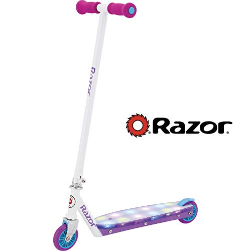 Razor Party Pop Kick Scooter with LED Lights - White