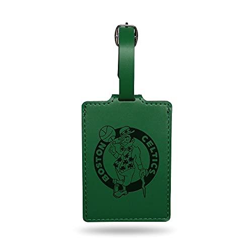 Rico Industries NBA Boston Celtics Team Color Laser Engraved Luggage Tag