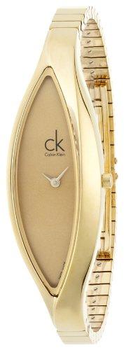 Calvin Klein K2C23509 PVD Gold - Reloj analógico de Cuarzo para Mujer con Correa de Acero Inoxidable, Color Dorado
