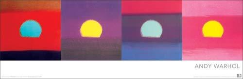 Andy Warhol Sunsets Pop Art Poster Print 12x36 by Culturenik