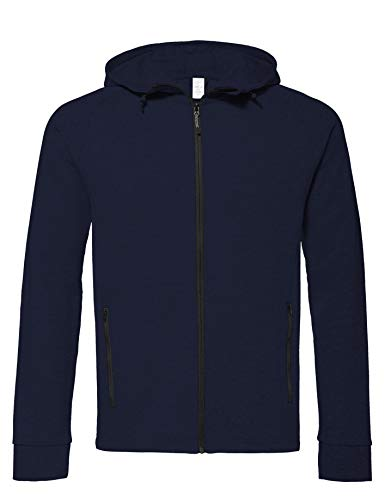 CARE OF by PUMA Herren-Tech-Kapuzenjacke mit Fleece-Futter, wasserabweisend, Blau (Navy Blazer), XXL, Label: XXL