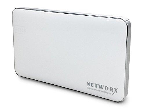 Networx Power Bank 6000mAh, Zusatzakku für Smartphones/Tablets, weiß