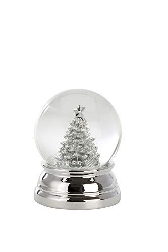 Unbekannt Schneekugel Christbaum Groß, versilbert, H 10,0cm D 8,0cm