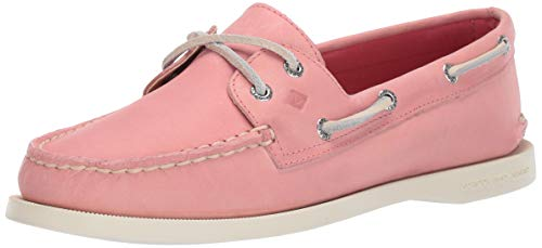 Sperry Women's Authentic Original Boat Shoe, Washed RED, 11