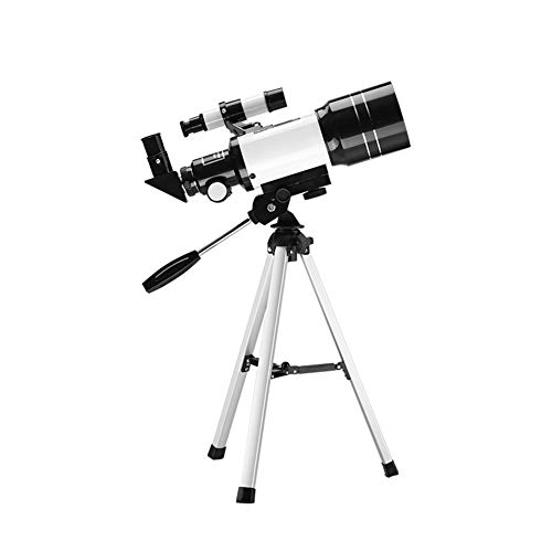 Aijin Telescopio astronómico, telescopio portátil telescopio portátil Refractores 150X de Alta Potencia con trípode Buscador de Estrellas Espacio terrestre Telescopio Lunar monocular (Blanco)