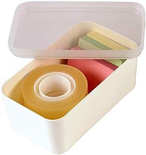 Sunware Lot de 6 paniers Q-Line avec couvercle 0,35 l pour boîte Q-Line 0,9/2,5 l – 122 x 70 x 55 mm – Blanc/transparent
