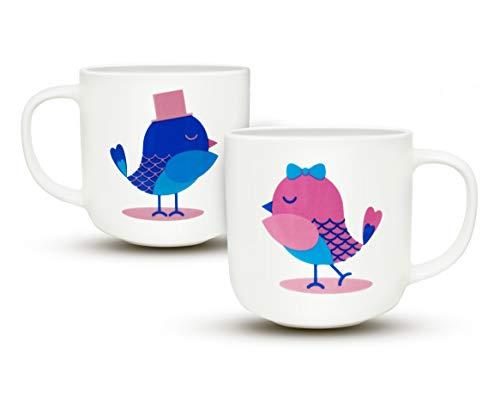 Gifffted Tassen Set, Paar-Kaffeetassen Geschenk, Paare Geschenke für Hochzeit | Jahrestag | Valentinstag | Hochzeitstag | Hochzeitsgeschenke | Weihnachten, Geschenkideen, Witzige Tasse, 380ML