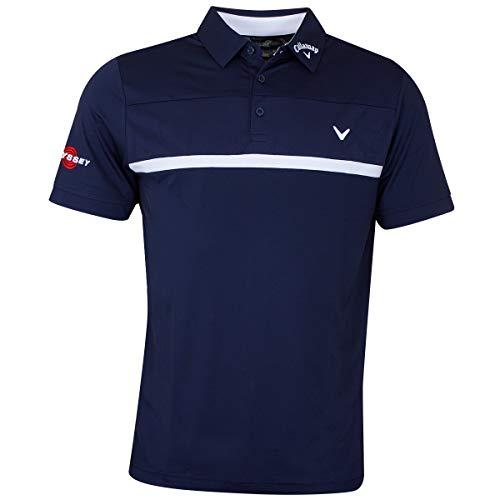Callaway Herren Tour Polo Poloshirt, Blau (Azul Marino 410), Small