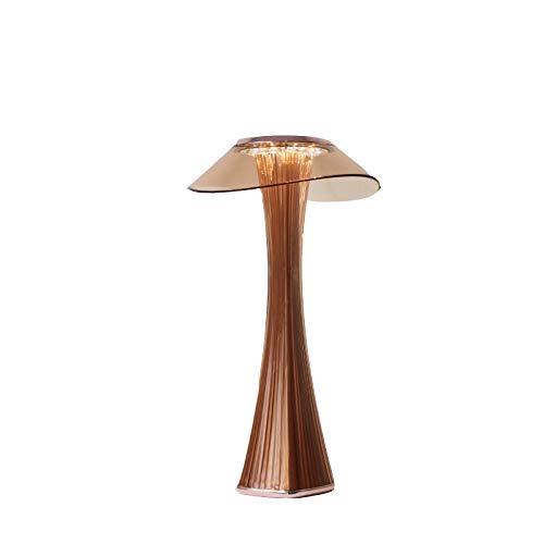 Dramir Lámpara de mesa recargable por USB, lámpara de protección ocular LED para estudiantes, luz de noche romántica para el dormitorio, luz táctil, el mejor regalo para adolescentes y niños.