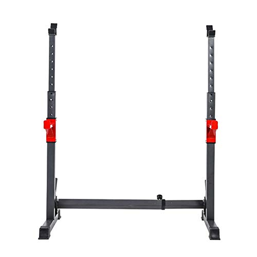 Squat Rack Réglable Barbell, Rack Musculation Cage Squat Poids Racks Barre De Squat Barbell Support...