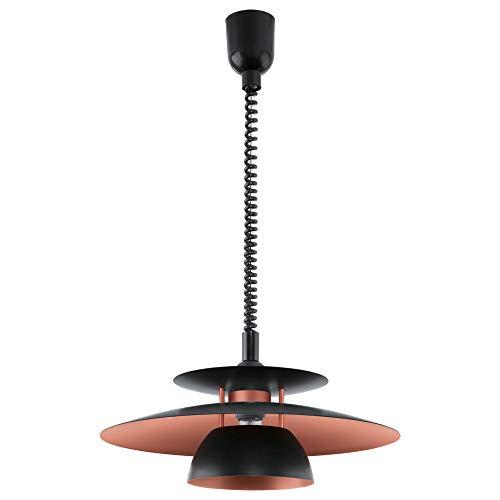 Eglo 31666 Brenda - Lámpara colgante ajustable para interior (43 cm, IP20, 1 lámpara E27 (no incluida) para cocina, salón, comedor, ambientador de coche