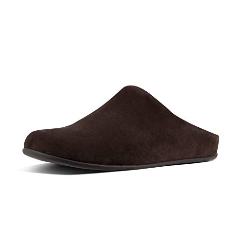 FitFlop Shove Mule Leather, Pantuflas Hombre, Brown Chocolate Brown 167, 45 EU