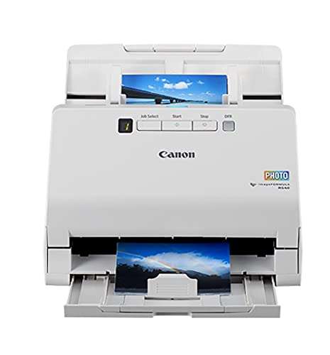 Canon imageFORMULA RS40 Photo and Document Scanner - for Windows and Mac - Scans Photos - Vibrant Color - USB Interface - 1200 DPI - High Speed - Easy Setup