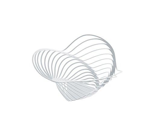 Alessi ACO04/12 W Trinity Zitruskorb aus Stahl epoxidharzlackiert, Durchmesser 26,0 cm, weiß