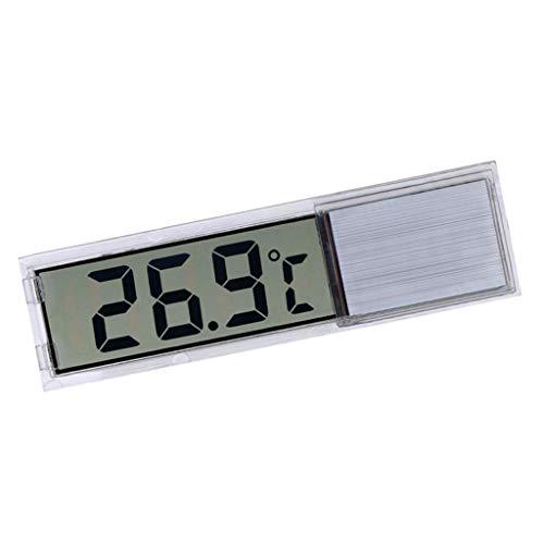 FLAMEER LCD 3D Digital Wasser Thermometer für Aquarium und Vivarium, Genauigkeit bis zu 0,1 Grad - Silber