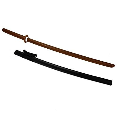 DerShogun Bokken aus roter Eiche mit Saya Spitzenqualität mit Schwertscheide