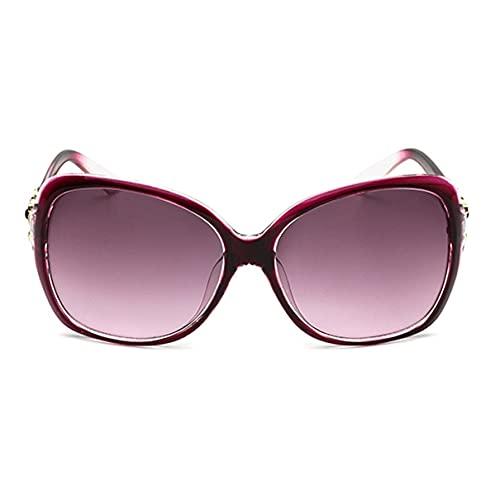 Sanzhileg Gafas de sol de lente de resina con montura de PC de gran tamaño para mujer, gafas protectoras para viajes, gafas de sol para senderismo, gafas de sol para mujer