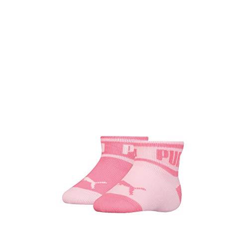 PUMA Baby Wording Sock 2P Calcetines, Pink, 23/26 (Pack de 2) Unisex bebé