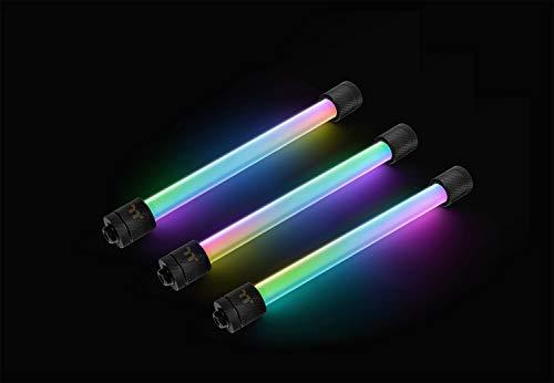 Thermaltake Pacific RGB Plus TT Premium Edition G1/4 PETG Tube 16mm OD 12mm ID Fitting (6er-Pack Fittinge),CL-W185-CU00BL-A,schwarz