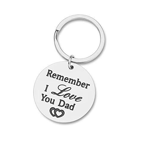 IKAAR Portachiavi Papa Portachiavi da uomo con scritta 'Remember I Love You Dad'