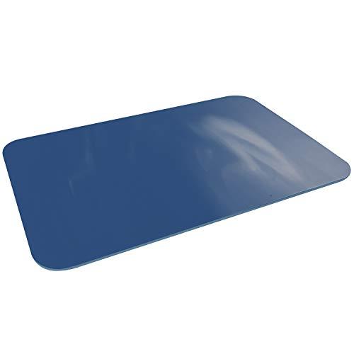 ファイン 珪藻土 パウダー 入り ソフト バスマット ブルー 割れない 軽い 冷たくない 滑りにくい 年中使える FIN-891BU 商品サイズ(約):60×40cm、厚み5mm
