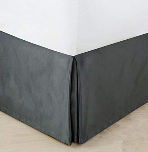 MUZIDP Samtrock Bett,Volltonfarbe Elastische Staub Einfach passen Lichtbeständige Falten ausgestattet Volant Für Hotel-B 100x200cm(39x79inch)