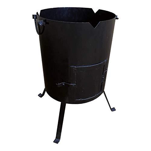 "SIMOND STORE Wood Fire Stove Oven for Pilaf Kazan Plov Lagman Shurpa, 16"" Diameter for 11 to 18 L Cauldron"