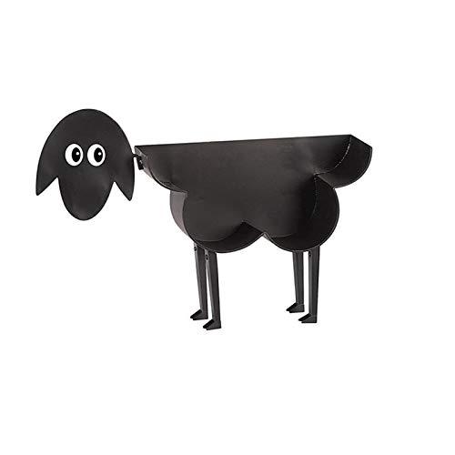 Toilettenpapierhalter mit Schafen, Metallrahmen, mit niedlichen Cartoon-Schafen/Katze/Hunden, für Badezimmer