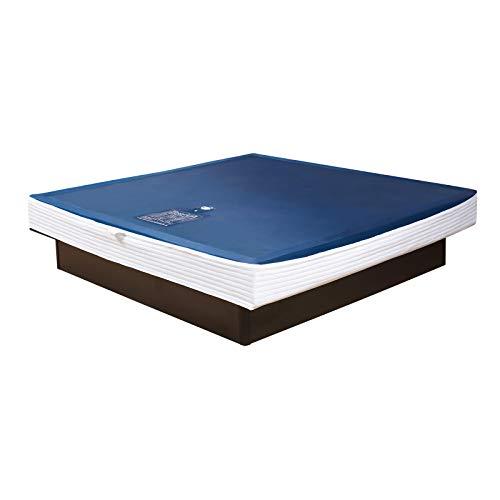 Premium Comfort Wasserkern inkl. Liner/Schutzfolie - Erneuerungsset für Wasserbett/Wasserbettmatratze Größe 180x200 cm Solo - Softside-Umrandung: innen keilförmig 20-23 cm - Beruhigung 90% / F6