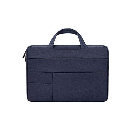 WSGYX Laptop Bag for Macbook Air Pro 11 13 15 17 Inch Multifunction Waterproof Notebook Sleeve Handbag for DELL HP Acer Xiaomi Lenovo (Color : Navy, Size : 14.1 inch)