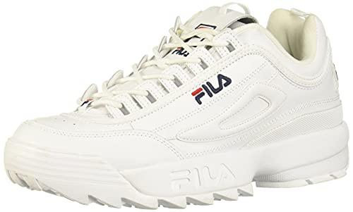 Zapatillas Fila Strada Disruptor para hombre, Blanco (Blanco/blanco/blanco), 42.5 EU