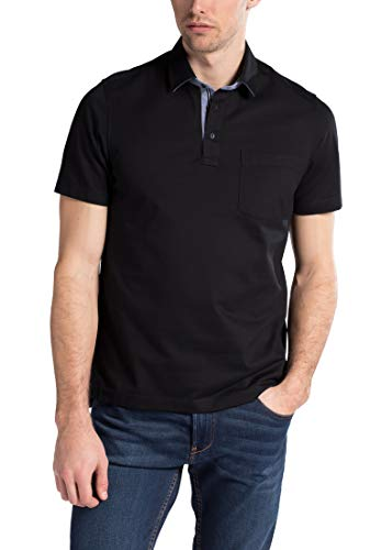 eterna Herren Polo Shirt Kurzarm Comfort Fit Poloshirt Piqué 2203/39/U54K Schwarz XXXXL/50
