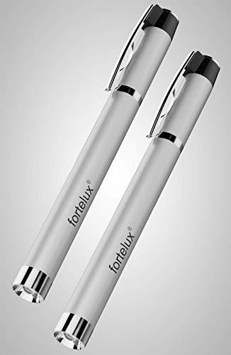 fortelux Diagnostikleuchte für Pupille Untersuchung - 2x Pupillenleuchte mit photobiologische Verträglichkeit - LED Pupillenlampe für den Medizin Bereich, Rettungsdienst & Augenärzte - Augenlampe