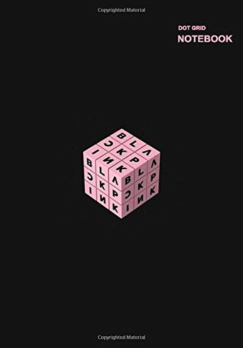 Dot Grid Composition Notebook: Notebook Dotted Grid, 110 Pages, B5 size (7' x 10'), Blackpink Rubik Design Cover.