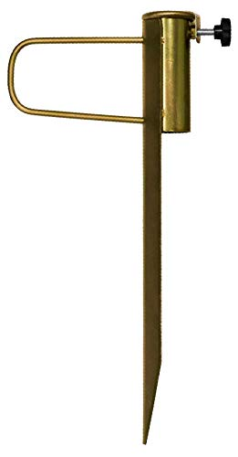 CampAir Universal Sonnenschirmhalter Rasendorn, 46 cm Länge, Ø 42mm Öffnung