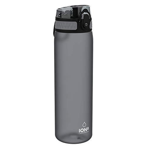 Ion8 Borraccia senza Perdite, senza BPA, 600ml, Grigio