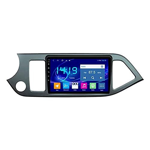 Gndy GPS Navigation Car Estéreo para Kia Picanto 2011-2015 Auto Multimedia Video Player Sat Nav FM Radio Receptor 1080P HD Pantalla táctil con WiFi Bluetooth MirrorLink DSP SWC USB